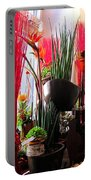 Flower Paradise Portable Battery Charger