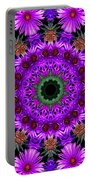 Flower Power Portable Battery Charger by Kristie  Bonnewell