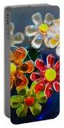 Flower Power Still Life Portable Battery Charger