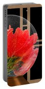 Flower Snow Globe At Window Portable Battery Charger