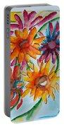 Flower Splash Portable Battery Charger