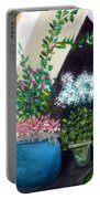 Flower Stand On Worth Ave In Palm Beach Portable Battery Charger