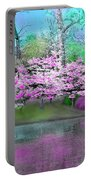 Flower Tree Reflections Portable Battery Charger