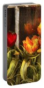 Flower - Tulip - Tulips In A Window Portable Battery Charger