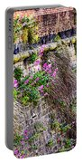 Flower Wall Along The Arno River- Florence Italy Portable Battery Charger