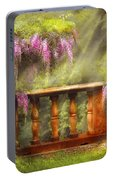 Flower - Wisteria - A Lovers View Portable Battery Charger