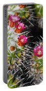 Flowering Cactus Portable Battery Charger