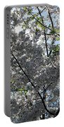 Flowering Cherry - White Portable Battery Charger