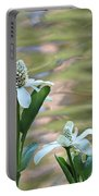 Flowering Pond Plant Portable Battery Charger