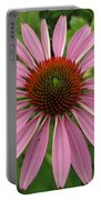 Flowering Purple Cone Flower Portable Battery Charger