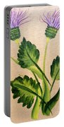 Flowering Thistle Portable Battery Charger