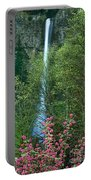 Flowering Tree Below Multnomah Falls Columbia River Gorge Nsa Oregon Portable Battery Charger