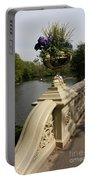 Flowerpots On Bow Bridge Portable Battery Charger