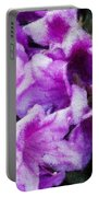 Flowers 2078 Embossed Portable Battery Charger