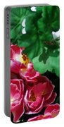 Flowers And Leaves Portable Battery Charger