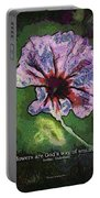 Flowers Are Gods Way 04 Portable Battery Charger