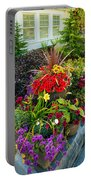 Flowers At Entrance Portable Battery Charger