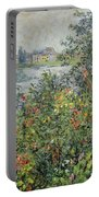 Flowers At Vetheuil Portable Battery Charger