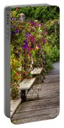 Flowers By A Bench  Portable Battery Charger