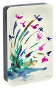 Flowers By The Pond Portable Battery Charger