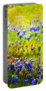 Flowers Field Background Portable Battery Charger