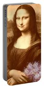 Flowers For Mona Lisa Portable Battery Charger