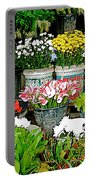 Flowers For Sale In Marketplace In Tachilek-burma Portable Battery Charger