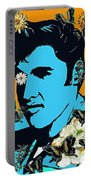 Flowers For The King Of Rock And Roll Portable Battery Charger