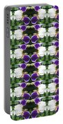 Flowers From Cherryhill Nj America White  Purple Combination Graphically Enhanced Innovative Pattern Portable Battery Charger