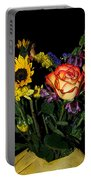Flowers From The Heart Portable Battery Charger