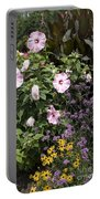 Flowers In A Garden Portable Battery Charger