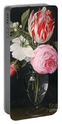 Flowers In A Glass Vase Portable Battery Charger by Daniel Seghers