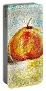 Flowers In A Mosaic Apple Portable Battery Charger