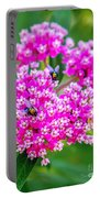 Flowers In A Purple Heart Portable Battery Charger