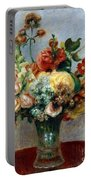 Flowers In A Vase Portable Battery Charger by Pierre-Auguste Renoir
