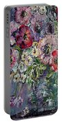 Flowers In An Antique Blue Vase Portable Battery Charger