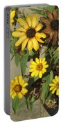 Flowers In Fall 2 Portable Battery Charger