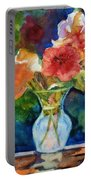 Flowers In Glass Vase Portable Battery Charger
