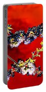 Flowers In Red Portable Battery Charger