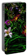 Flowers In The Garden 2 Portable Battery Charger