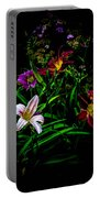 Flowers In The Garden Portable Battery Charger