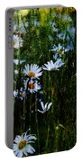 Flowers In The Rain - Daisies  Portable Battery Charger