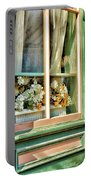 Flowers In The Window Portable Battery Charger