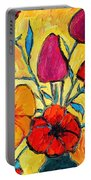 Flowers Of Love Portable Battery Charger by Ana Maria Edulescu