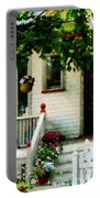 Flowers On Steps Portable Battery Charger