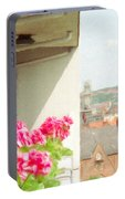 Flowers On The Balcony Portable Battery Charger