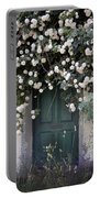 Flowers On The Door Portable Battery Charger