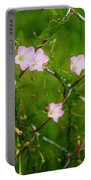 Flowers... On The Fence Portable Battery Charger
