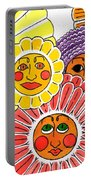 Flowers With Faces Portable Battery Charger