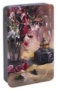 Flowers With Lantern Portable Battery Charger